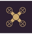 The quadrocopter icon Quadrocopter symbol Flat vector image