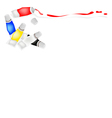 Tube of Primary Colors with White and Black vector image vector image