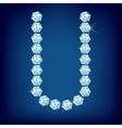vector diamond alphabet lette u vector image