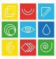 Web Icons and abstract symbols vector image