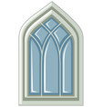 window design in medieval style vector image vector image