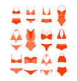 woman summer bikini set vector image vector image