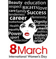 womens day poster 8 march international women day vector image vector image