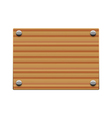 wooden board copy vector image