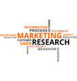word cloud - marketing research vector image vector image