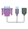 Audio cable icon cartoon style vector image