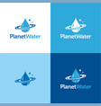 planet water vector image