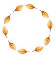yellow circle frame cartoon leaf vector image