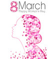 8 march happy women day poster with flowers vector image vector image