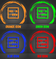 Abacus icon Fashionable modern style In the orange vector image