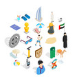 active life position icons set isometric style vector image vector image