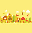 autumn landscape colorful poster in graphic vector image