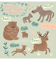 Baby and Mommy Animal Set vector image vector image