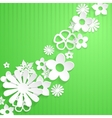 Background with paper flowers vector image