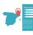 barcelona map infographic vector image vector image