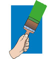 black hand holding brush vector image vector image