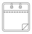 blank calendar icon outline style vector image