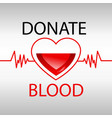 blood donation medicine help hospital vector image