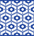 blue and white mediterranean seamless tile pattern vector image vector image