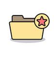 bookmark favorite folder like love mark star icon vector image