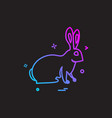 bunny easter paschal rabbit icon design vector image