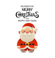 cartoon santa claus holiday character vector image