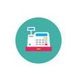 cash register machine - concept colored icon vector image vector image