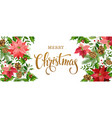 christmas banner white vector image vector image