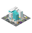 city street district quarter isometric town vector image