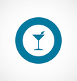 cocktail bold blue border circle icon vector image vector image