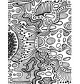 coloring page abstract pattern maze line of vector image vector image