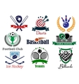 Competition sports emblems and symbols vector image vector image