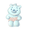 cute bapolar bear in pants vector image vector image