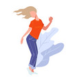 dancing female character teenager partying and vector image