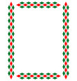 decorative art italian frame pattern vector image
