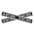 do not cross police line icon simple style vector image