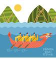 dragon boat festival - duanwu or zhongxiao river vector image