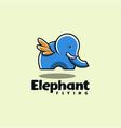 elephant flying logo vector image