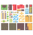 farm elements - set of modern isolated vector image