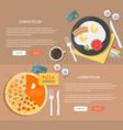 flat design breakfast concepts web vector image
