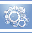 gears background white color vector image