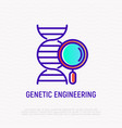 genetic engineering thin line icon vector image