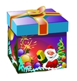 Gift box in Christmas style with Santa Claus vector image vector image