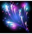 Glowing background with salute vector image vector image
