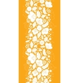 Gold and white floral silhouettes vertical vector image vector image