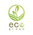 green eco logo vector image vector image