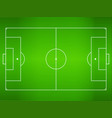 green grass football field soccer field vector image