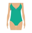 half body set bikini one piece vector image vector image