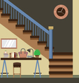 Hallway Decoration vector image vector image