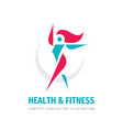 health fitness - concept business logo design vector image vector image